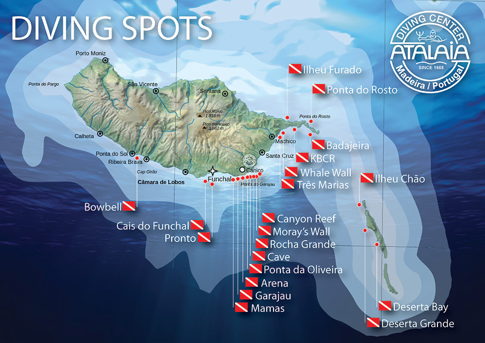 Diving spots in Madeira